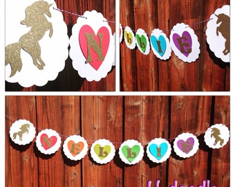 Rainbow Unicorn Party Banner