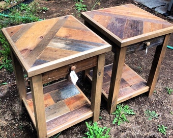 Reclaimed Barnwood End Tables