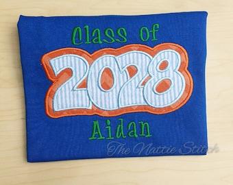 Class of 2028 Shirt, Graduation Shirt, School Shirt, Embroidered Class Shirt, Kid Graduation, End of School,