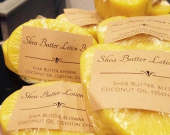 FREE SHIPPING- 12 -Shea Butter Lotion Bar-Heart Shape, 2.4 Oz, Vanilla Sandalwood Fragrance for Wedding Favors