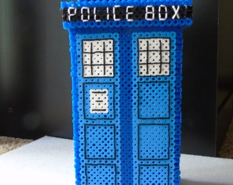 3D Tardis Box - Pixel Art & Embroidery