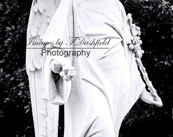 Beautiful Angel, Cemetery Angel Statue,  Angel Photo, Cemetery Photography, Fine Art Photography, Fine Art Print