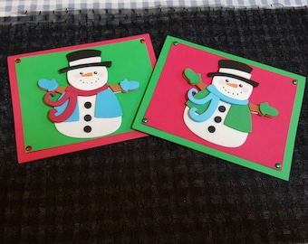 Snowman Holiday cards 6 pack