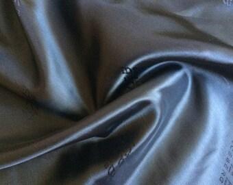 ICEBERG 100% Viscose Satin LINING FABRIC (Black) Made in Italy cm 200 x 140