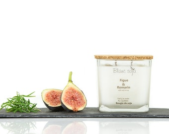 Fig and Rosemary, soy candle