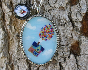 Up Inspired Hand Painted Necklace