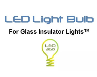 Glass Insulator Light LED Light Bulb -Insulator Light Bulbs