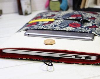 12 inch Macbook case, 11 Macbook sleee, New Macbook sleeve, laptop case 12, navy blue laptop case, unique Macbook case, Macbook Air sleeve