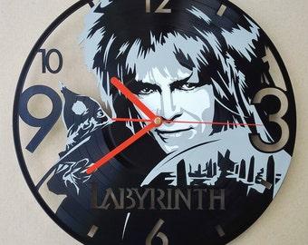 Vinyl wall clock - Labyrinth