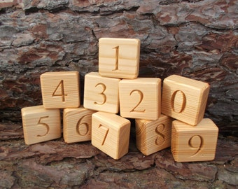 Numbered blocks, Counting blocks, Educational numbers, Eco friendly toy, Handmade wooden toy, Educational gift, Gift for baby, Learning