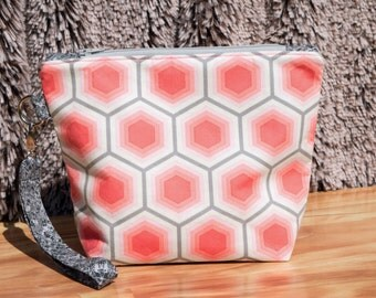 Summer Sorbet Honeycomb Wristlet Clutch Bag with Detachable Strap