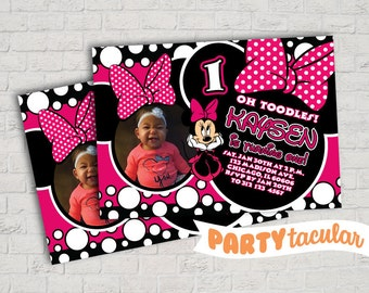 Minnie Birthday Invitation
