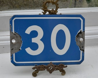 Antique French Enamel House Sign Number 30