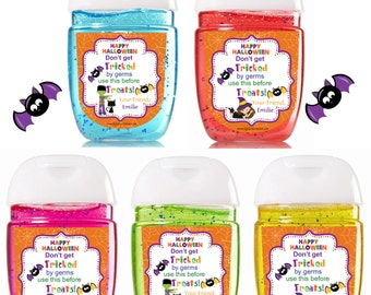 New Bath and Body Works Hand Sanitizer / Halloween Hand Sanitizer / Halloween Favors / Bath and Body Works Sanitizer / Halloween Labels