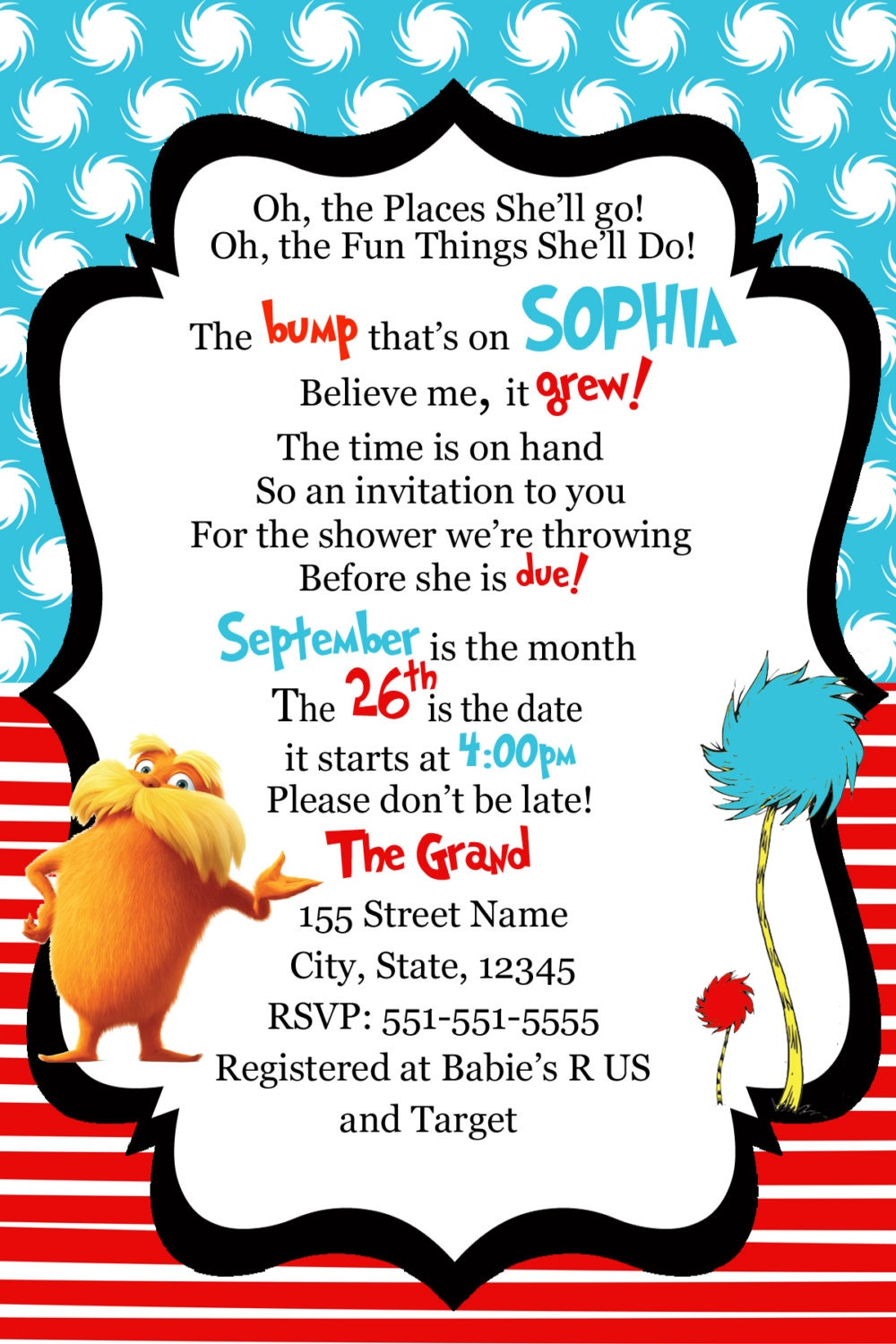 dr seuss baby shower invitation dr seuss the by digitalworld1