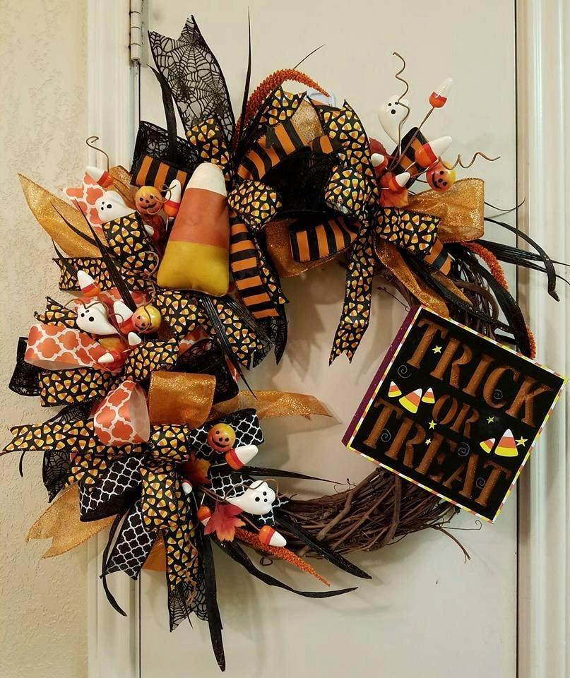 Halloween Wreath Trick Or Treat Wreath Fall Wreath