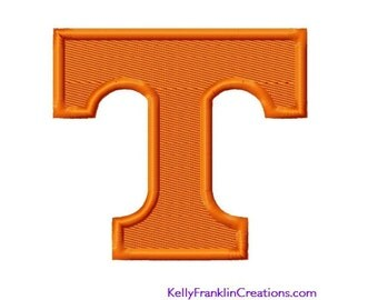 Tennessee T Solid Fill EMBROIDERY