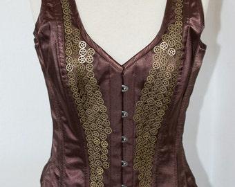 """steampunk corset """"Xenia"""", waist 32"""""""