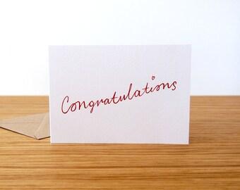 Congratulations Card // Wedding Cards // New Baby Card // New Job Card // Exams Card