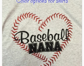 Nana baseball shirt baseball nana shirt new personalized with name and number