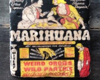 Marihuana Weird Orgies Wild Parties Tile