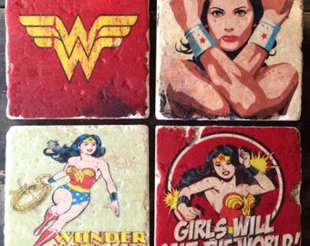 Wonder Woman Girl Power Coaster or Decor Accent