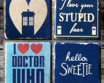 I Love Doctor Who Coaster or Decor Accent