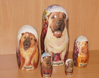 Sharpel Dogs 5 pc set