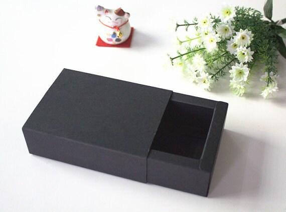 20 pieces lot 22 12 7cm black kraft paper drawer boxes for Black box container studios