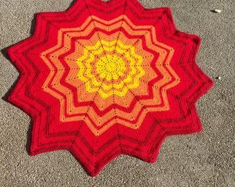 Round Ripple Blanket