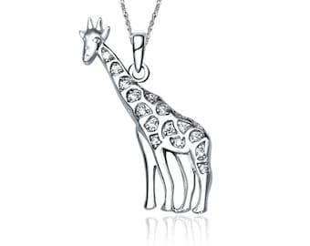 Giraffe Charm - Sterling Silver