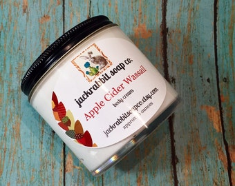 Apple Cider Wassail Body Cream | Fall Lotion | Apple Lotion | Clove Lotion | Cinnamon Lotion | Shea Lotion | Hand Body Cream | Body Lotion