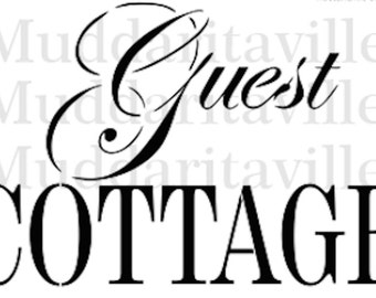 Guest Cottage Furniture or Wall Stencil. 2 Different fonts