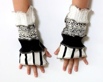 Black and White Arm Warmers