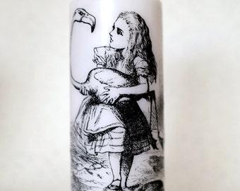 Alice in Wonderland pillar candle
