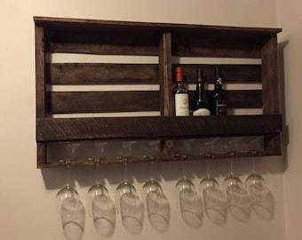 Wine Rack with Walnut Stain