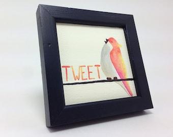 Tweet Bird desk art