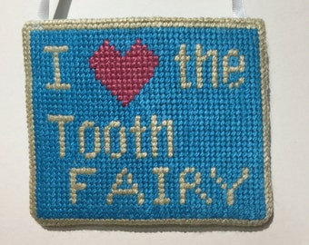 Hand embroidered Tooth Fairy Pocket