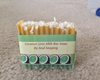 Homemade Soap-Coconut Lime Milk Bar Soap