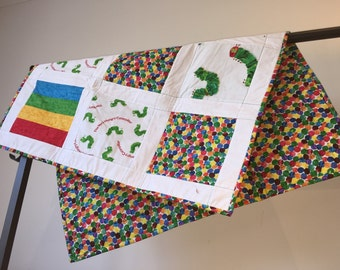 The Very Hungry Caterpillar baby quilt