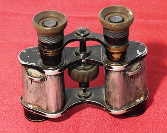 Vintage Colmont FI Stereo Prism Binoculars Made in Paris with Number 8530                   00648