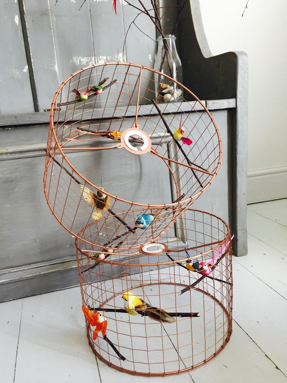 Copper Bird Cage Light Lamp Shade Chandelier Standard