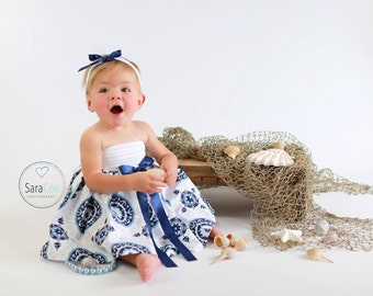 Miss Lily Dress Baby Photo Prop Sailor Girl