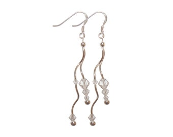 """Earrings """"Twist"""" - gorgeous, slightly wavy for a lot of natural."""