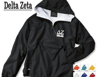 Delta Zeta  // DZ // Sorority Charles River Rain Jacket // Choose your color