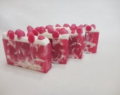 Spiced Cranberry SOAP LOAF 1.5 lb - Christmas Soap - Homemade Soap - Shea Butter Gift - Handmade Moisturizing Glycerin Soap - Fruity Soap