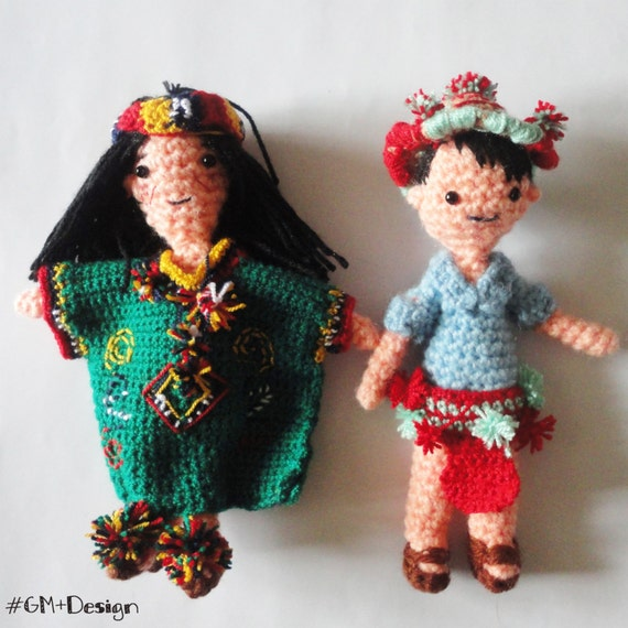 Crochet doll Amigurumi doll Art Doll gift for girl clothes