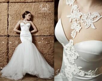 Wedding dress. Mermaid wedding dress. Couture wedding dress Arina