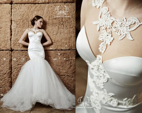 Wedding Dress. Mermaid Wedding Dress. Couture Wedding Dress