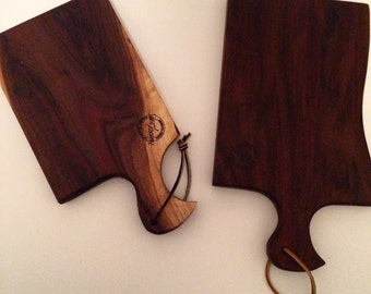 Black walnut cheese boards